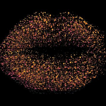 Modern Abstract Art Lips by enhan