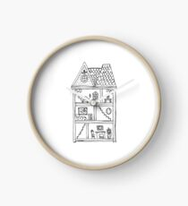 Little Dollhouse  Clock