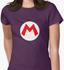 Super Mario Mario Icon Womens Fitted T-Shirt
