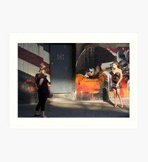Model & Photograher Art Print