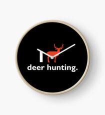 I Love Deer Hunting T-shirt Clock