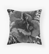 Roses Are Gray Throw Pillow