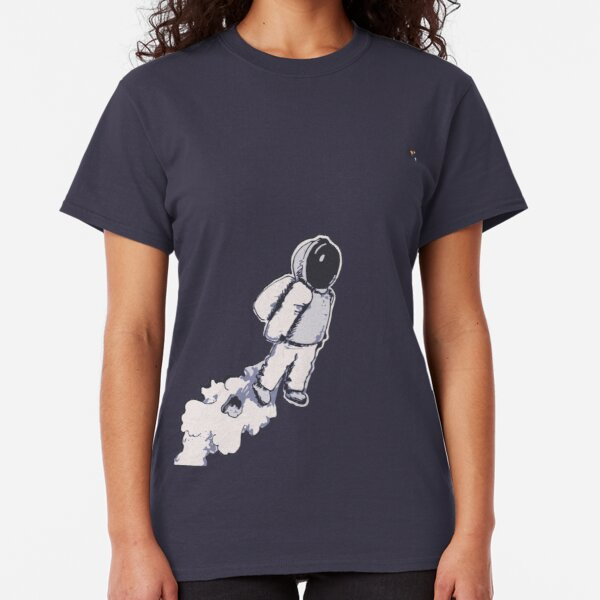 Brian The Poostronaut Evacuates To Outer Space Classic T-Shirt