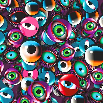 Monster Eyes Party by fakeface