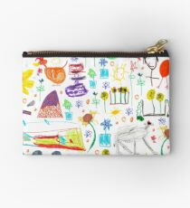 strong feathers pattern Studio Pouch