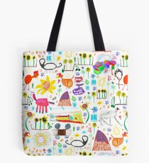 strong feathers pattern Tote Bag