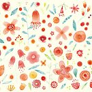 Watercolor Blooms by Nic Squirrell