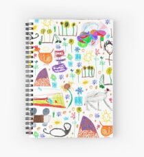 strong feathers pattern Spiral Notebook