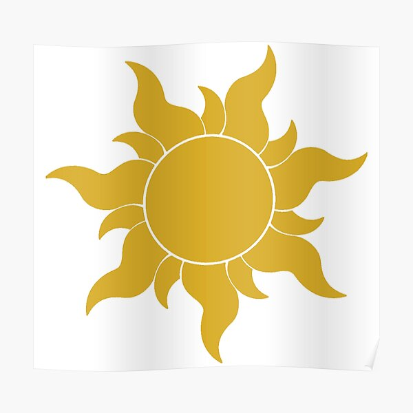 Tangled Sun Poster By Swan Girls Redbubble