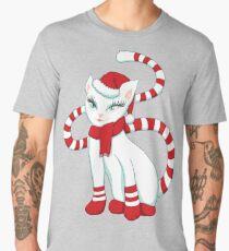 White cat in Christmas mood Men's Premium T-Shirt