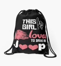 This Girl Loves To Drive Her Jeep T-shirt Drawstring Bag