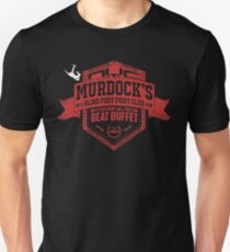 Murdock's Blind Fury Fight Club - Dist Red/White T-Shirt