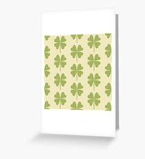 Seamless pattern with a leaf of clover. Greeting Card
