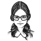 Josine - a beautiful nerd - portrait of a hot librarian - or maybe she is just a pretty woman with glasses by ArtsyAnts