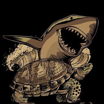 Shark turtle by GeschenkIdee