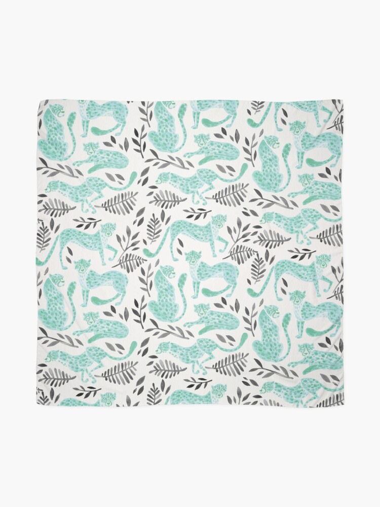 Alternate view of Cheetah Collection – Mint & Black Palette Scarf