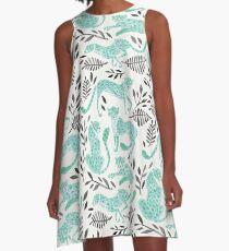 Cheetah Collection – Mint & Black Palette A-Line Dress