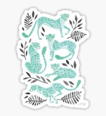 Cheetah Collection – Mint & Black Palette Sticker