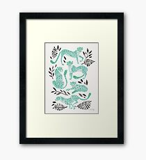 Cheetah Collection – Mint & Black Palette Framed Print