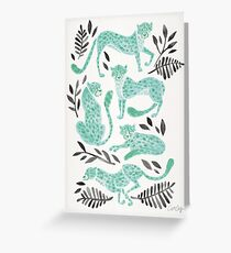 Cheetah Collection – Mint & Black Palette Greeting Card