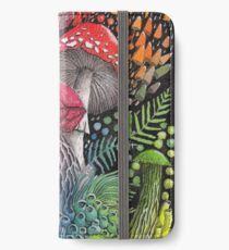 Rainbow Mushroom Composition | Watercolor Illustration iPhone Wallet/Case/Skin