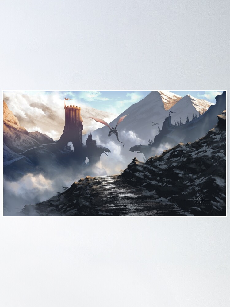 Alternate view of cloud dancer tower Poster