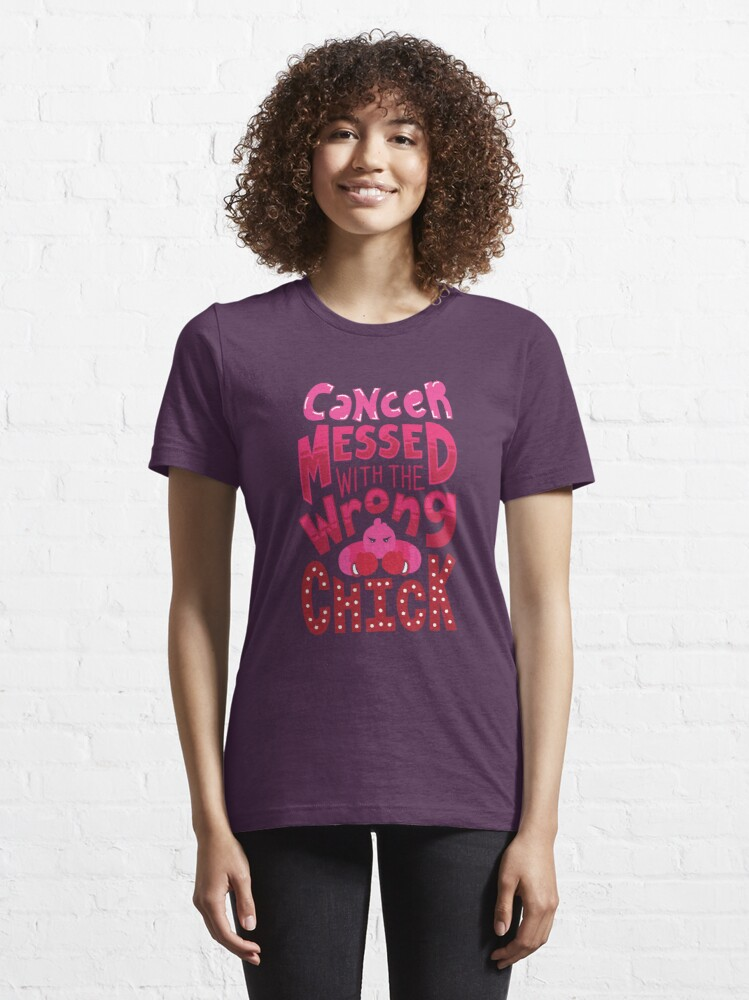 Alternative Ansicht von Cancer Messed With The Wrong Chick - Cancer Fighting Gift Essential T-Shirt