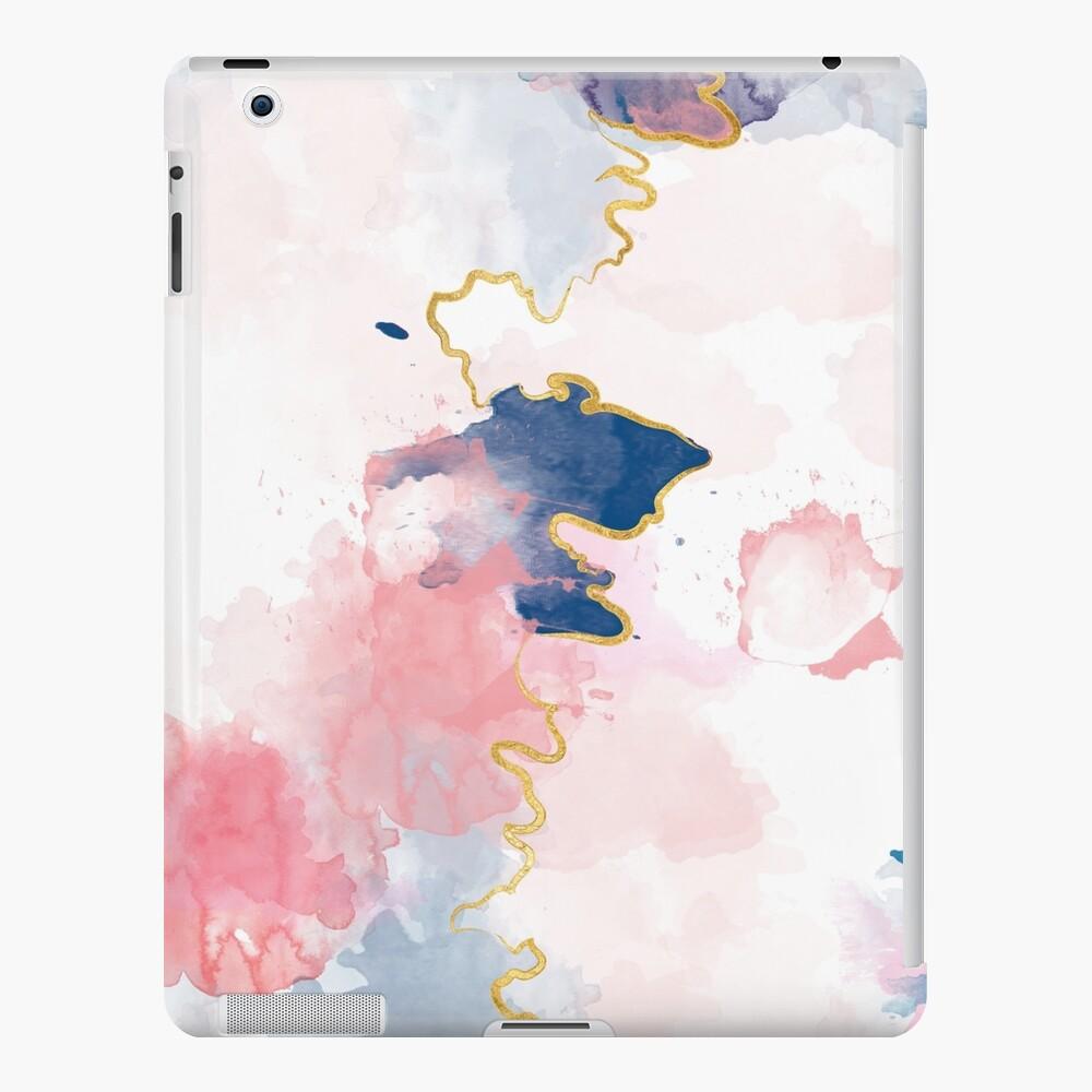 Kintsugi Pastel Marble Abstract #kintsugi #gold #japan #marble #pink #blue #home #decor #kirovair #watercolor #pastel iPad-Hülle & Skin