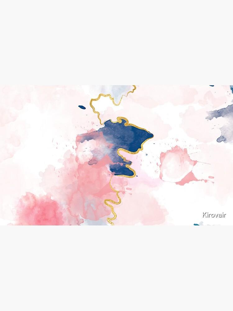 Kintsugi Pastel Marble Abstract #kintsugi #gold #japan #marble #pink #blue #home #decor #kirovair #watercolor #pastel von Kirovair