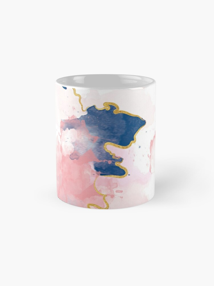Alternative Ansicht von Kintsugi Pastel Marble Abstract #kintsugi #gold #japan #marble #pink #blue #home #decor #kirovair #watercolor #pastel Tasse