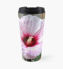 Oversized Hibiscus Flower Travel Mug