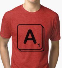 A scrabble print Tri-blend T-Shirt