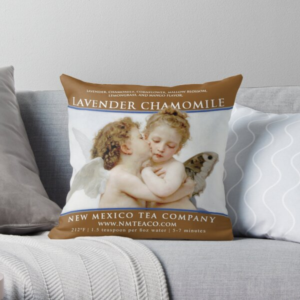 Lavender Chamomile Throw Pillow