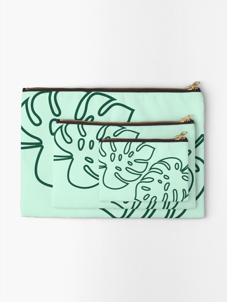 """Alternate view of """"Palm Leaves"""" Studio Pouch  Zipper Pouch"""