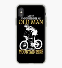 Never Underestimate An Old Man With A Mountain Bike T-Shirt iPhone Case