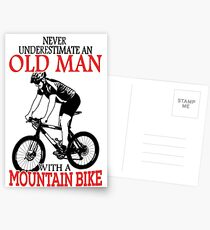 Never Underestimate An Old Man With A Mountain Bike T-Shirt Postcards
