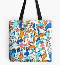 Faces of New York Tote Bag