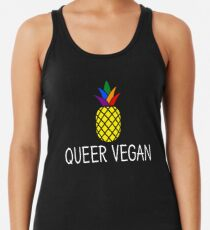 Queer Vegan - LGBT Pride Month Gift Racerback Tank Top