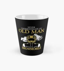 Never Underestimate An Old Man With A Snowmobile T-Shirt Tall Mug