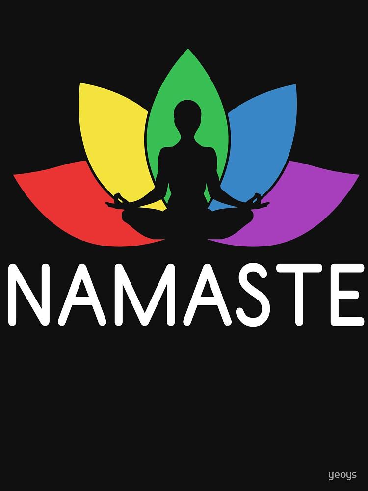 Namaste Lotus Plant - LGBT Pride Month Gift von yeoys
