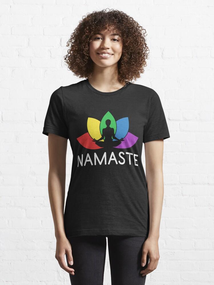 Alternative Ansicht von Namaste Lotus Plant - LGBT Pride Month Gift Essential T-Shirt