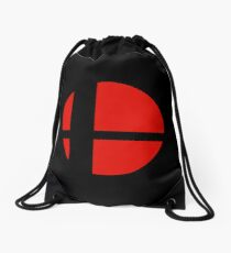 Super Smash Bros Icon Drawstring Bag