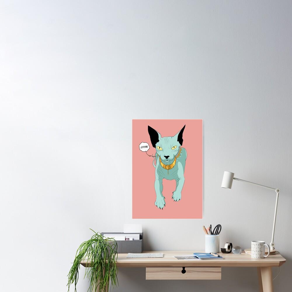 Lying Cat Poster