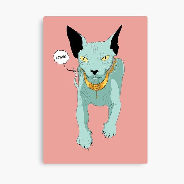 Lying Cat Canvas Print