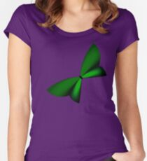 Green Geometric Butterfly Women's Fitted Scoop T-Shirt