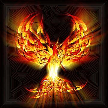PHOENIX IN FLAME by FieryFinn77