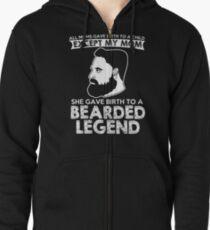 Bearded Legend T-Shirt Zipped Hoodie