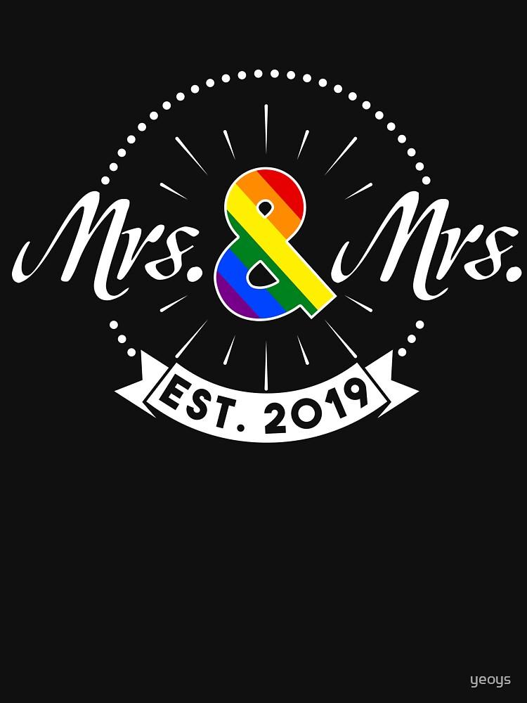 Mrs. & Mrs. est. 2019 - LGBT Pride Month Gift von yeoys