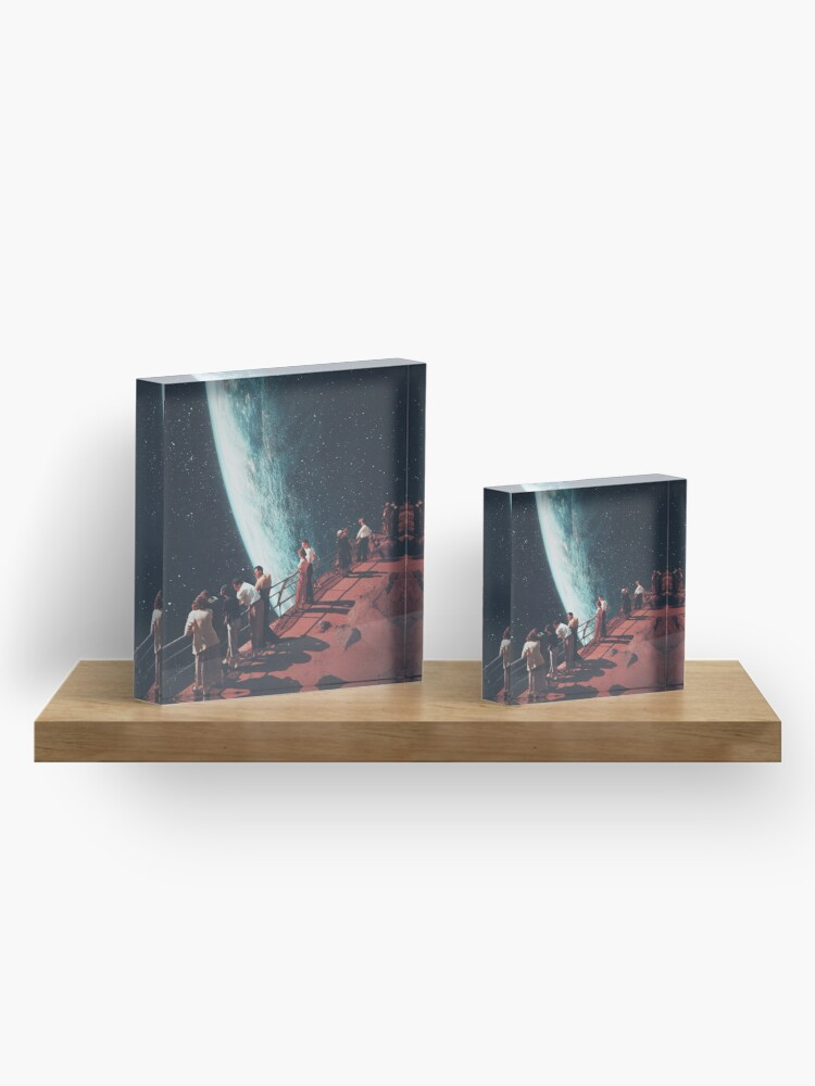 Alternate view of Missing the ones we Left Behind Acrylic Block