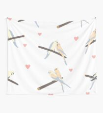 Birds In Love Wall Tapestry